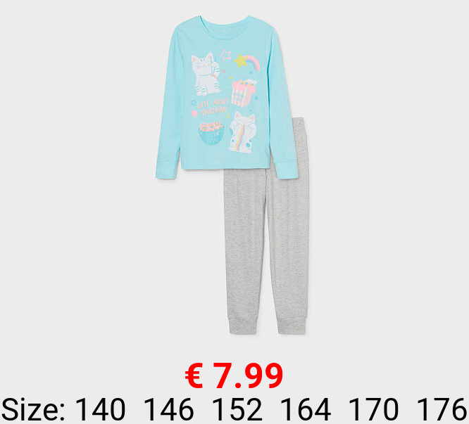 Pyjama - Bio-Baumwolle -2 teilig