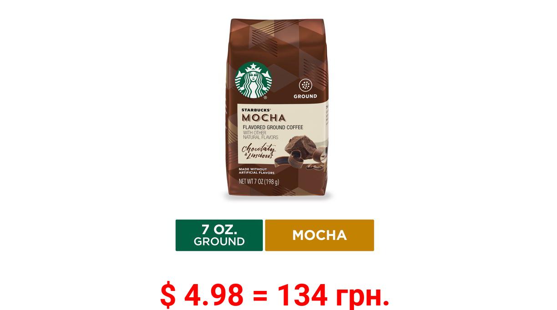 Starbucks Flavored Ground Coffee, Mocha, 7 Oz