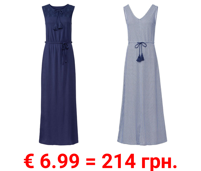 ESMARA® Kleid Damen, Kordel in der Taille