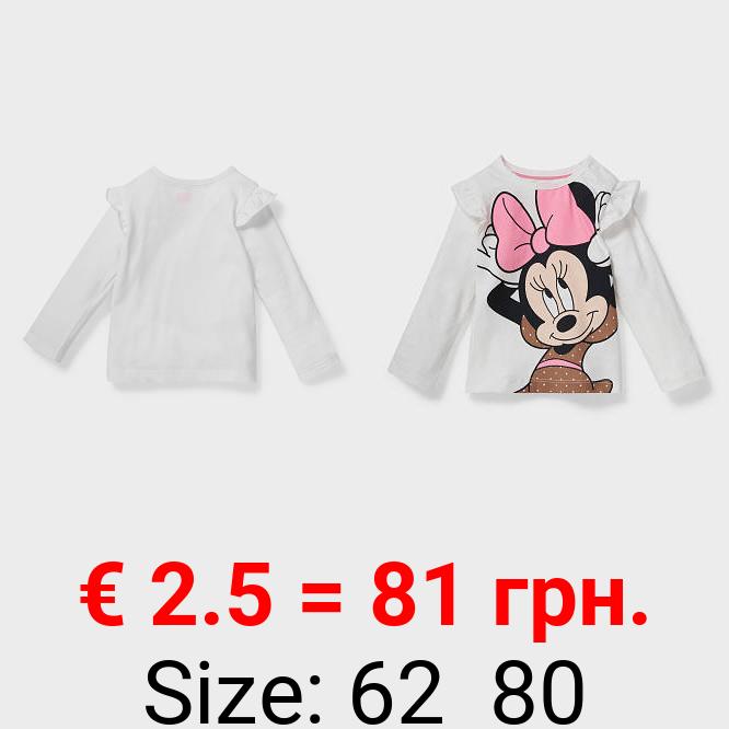 Minnie Maus - Baby-Langarmshirt - Bio-Baumwolle