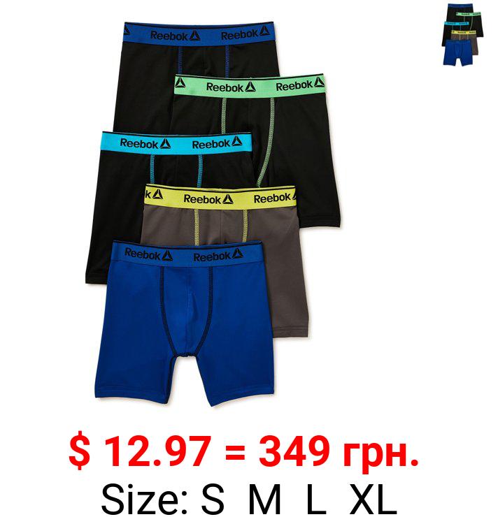 Reebok Boys' Performance Boxer Briefs, 5 Pack, Sizes S-XL