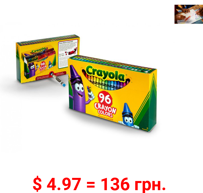 Crayola Crayon Set, 96 Pieces Coloring Set, Child Ages 3+