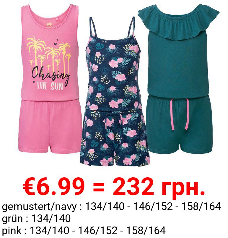 PEPPERTS® Kinder Jumpsuit Mädchen, mit Gummizug