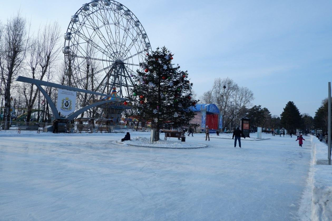 Заливка народного катка в Хабаровске начнется с приходом морозов