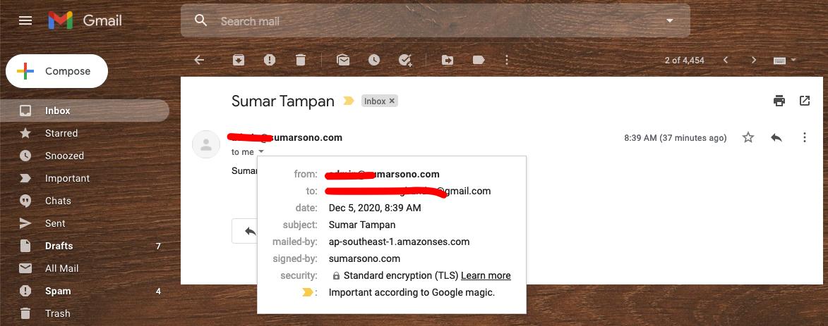 Email dari SES