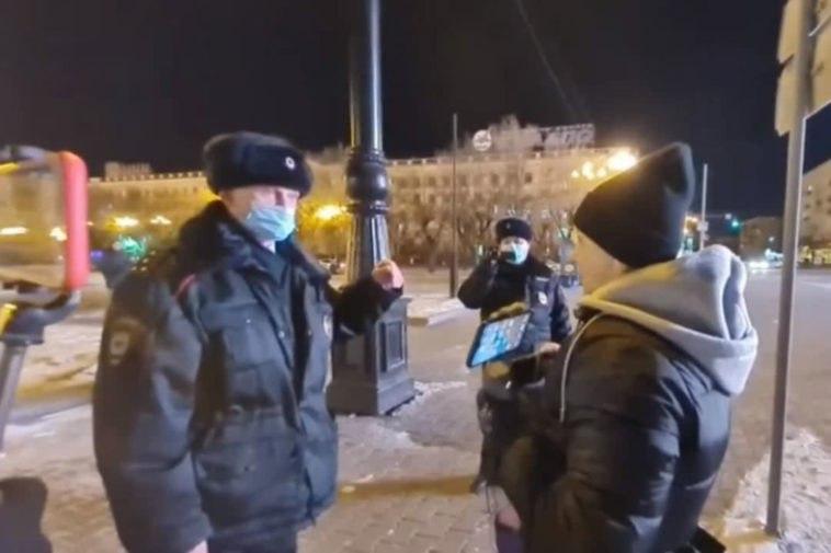 ВХабаровске задержали журналиста, освещавшего акцию протеста