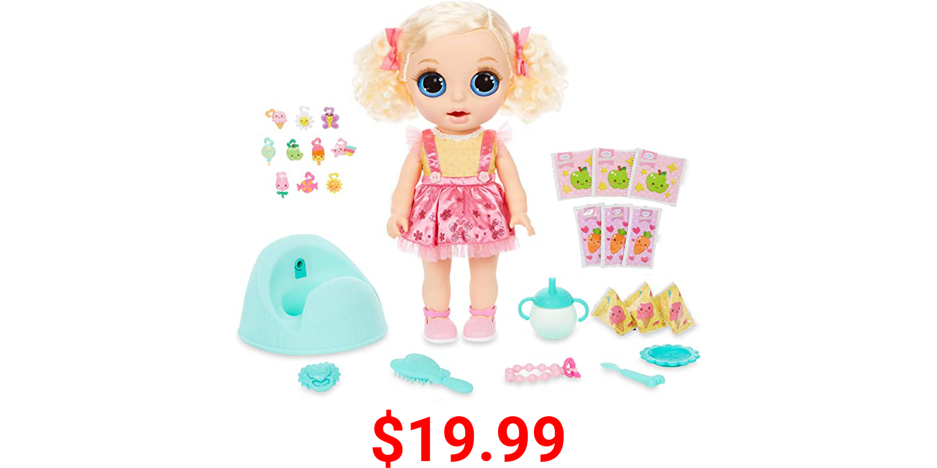 Baby Born Surprise Magic Potty Surprise Doll Blue Eyes with 30 + Magical Surprises   Doll Pees Glitter & Poops Surprise - Charms Best Gift for Toddlers Ages 3+