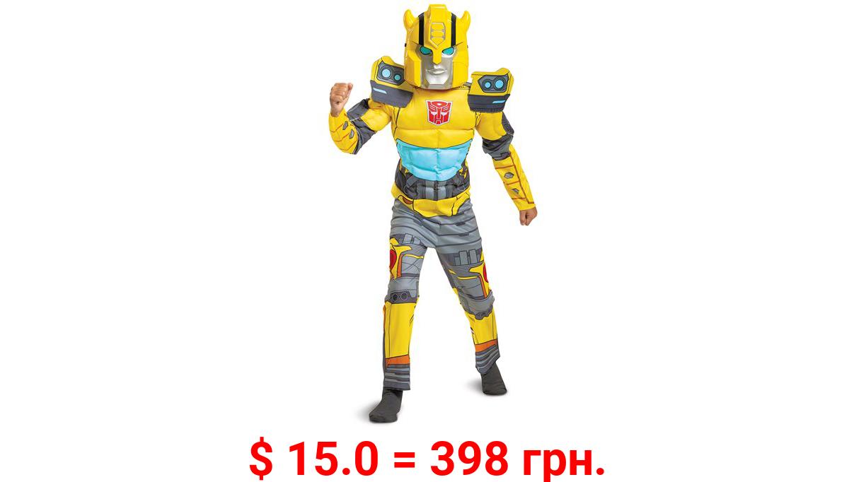 Disguise Hasbro's Transformers Boys Bumble Bee EG Muscle Halloween Costume