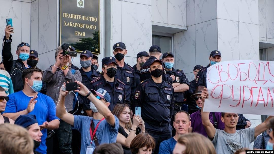 Хабаровская полиция стала жестче штрафовать митингующих