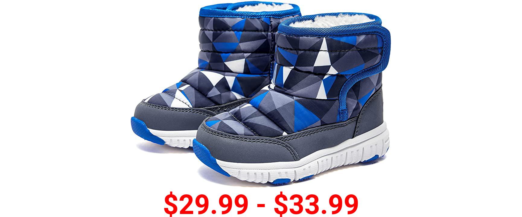 HOBIBEAR Boys Girls Toddler Snow Boots Waterproof Slip Resistant Outdoor Winter Shoes(Toddler/Little Kids/Big Kids)