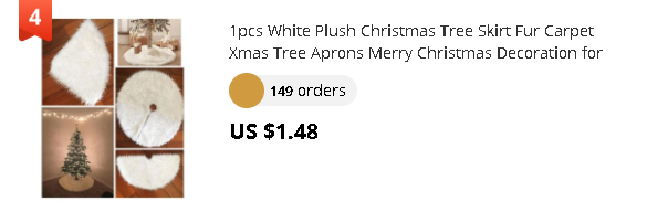1pcs White Plush Christmas Tree Skirt Fur Carpet Xmas Tree Aprons Merry Christmas Decoration for Home Party New Year Xmas Decor