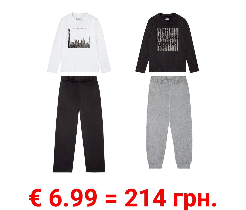 PEPPERTS® Pyjama Jungen, mit Baumwolle