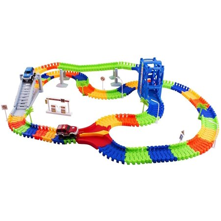 Vokodo - Educational, Twistable, Race Car Track - 240 Pieces & 2 Cars