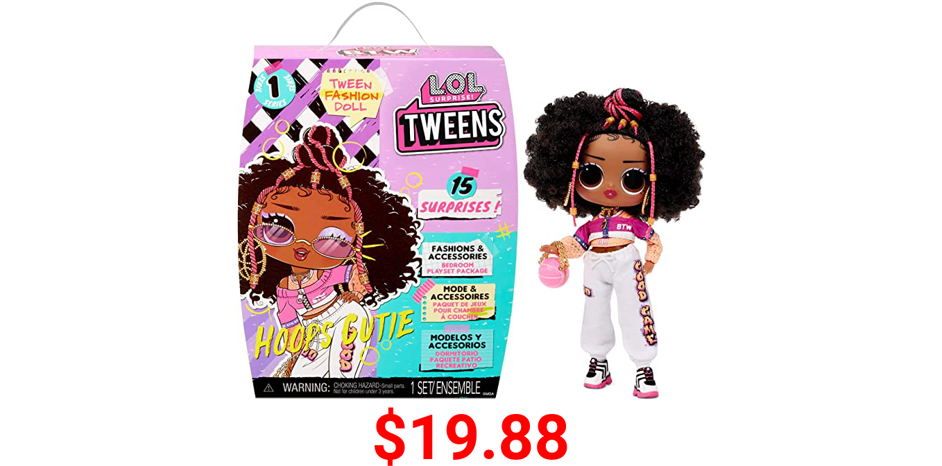 LOL Surprise Tweens Fashion Doll Hoops Cutie with 15 Surprises Including Outfit and Accessories for Fashion Toy Girls Ages 3 and Up