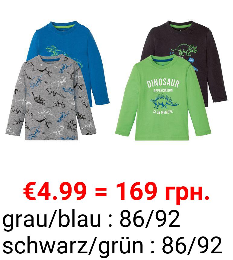 LUPILU® Kleinkinder Langarmshirt Jungen, 2 Stück