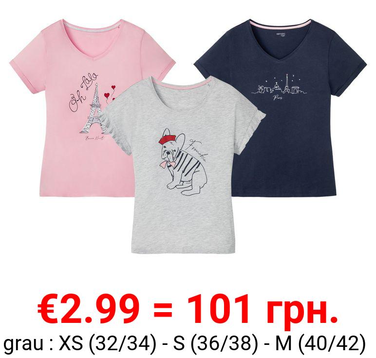 ESMARA® Schlafshirt Damen, mit Bio-Baumwolle