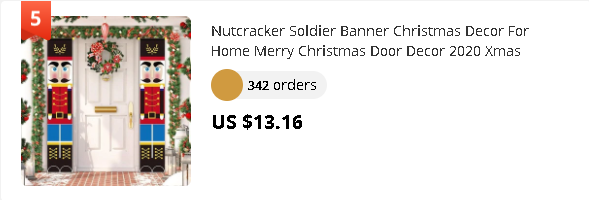 Nutcracker Soldier Banner Christmas Decor For Home Merry Christmas Door Decor 2020 Xmas Ornament Happy New Year 2021 Navidad