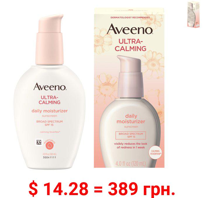 Aveeno Ultra-Calming Daily Facial Moisturizer with SPF 15, 4 fl. oz
