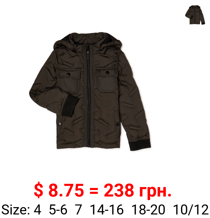 Urban Republic 'Heat Seal' Quilted Jacket with Zip Off Hood, Sizes 4-20
