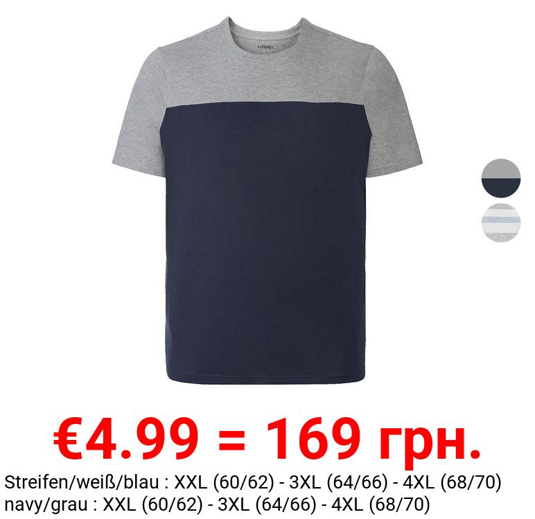 LIVERGY® T-Shirt Herren, Rundhalsausschnitt