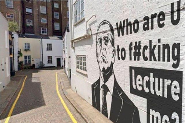 """""""Кто вы такой, чтобы читать мне лекции?"""" (В Лондоне появилось граффити с Лавровым и его эпохальной фразой)"""