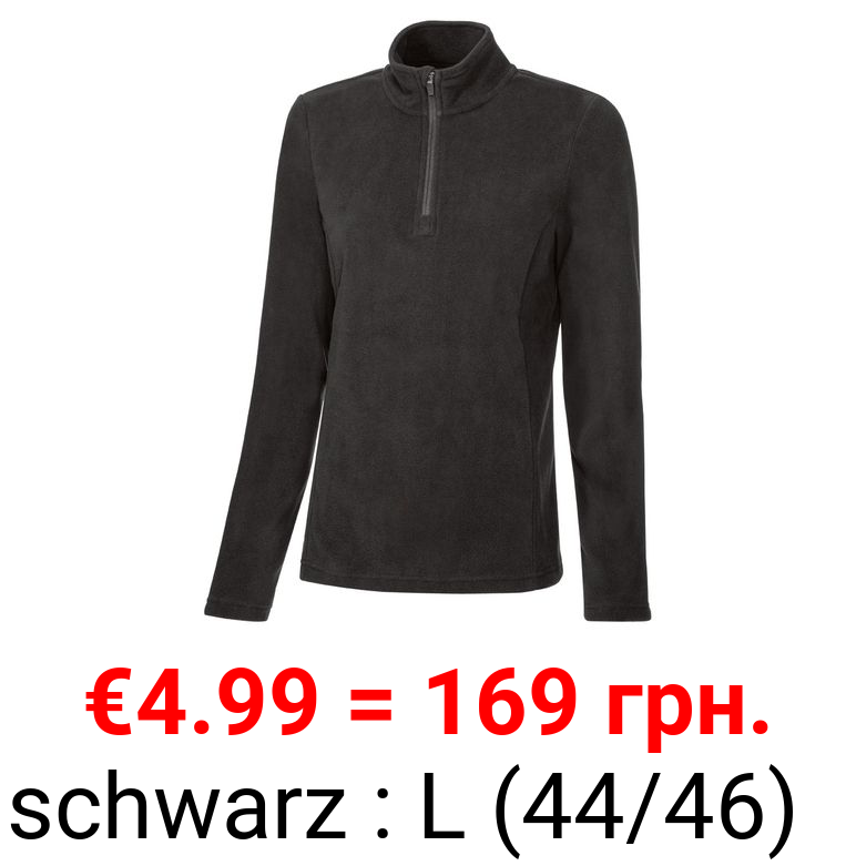 CRIVIT® Fleece Damen, mit Kinnschutz, Stehkragen