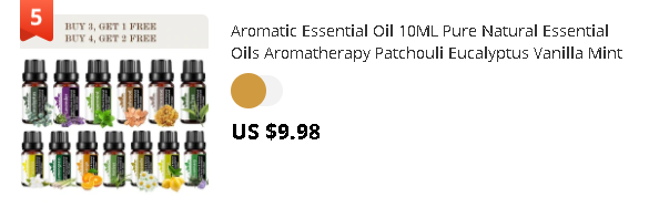 Aromatic Essential Oil 10ML Pure Natural Essential Oils Aromatherapy Patchouli Eucalyptus Vanilla Mint Clove Tea Tree Oil