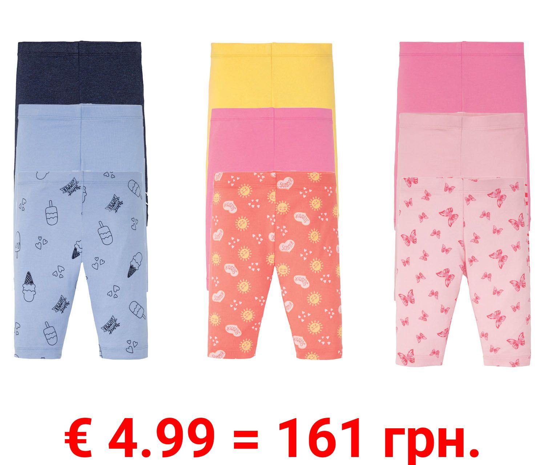 LUPILU® Kleinkinder Leggings Mädchen, 3 Stück