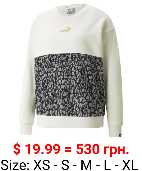 Winterized Graphic Crew Neck Women's Sweatshirt