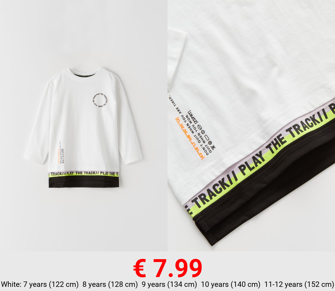 SPORTY T-SHIRT WITH DOUBLE HEM