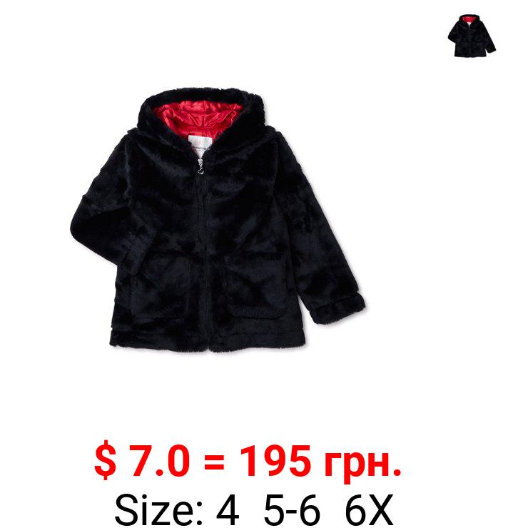 Urban Republic Girls' Faux Hooded Zip-Up Coat, Sizes 4-6X