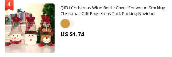 QIFU Christmas Wine Bottle Cover Snowman Stocking Christmas Gift Bags Xmas Sack Packing Navidad Presents Chrismas New Year 2020