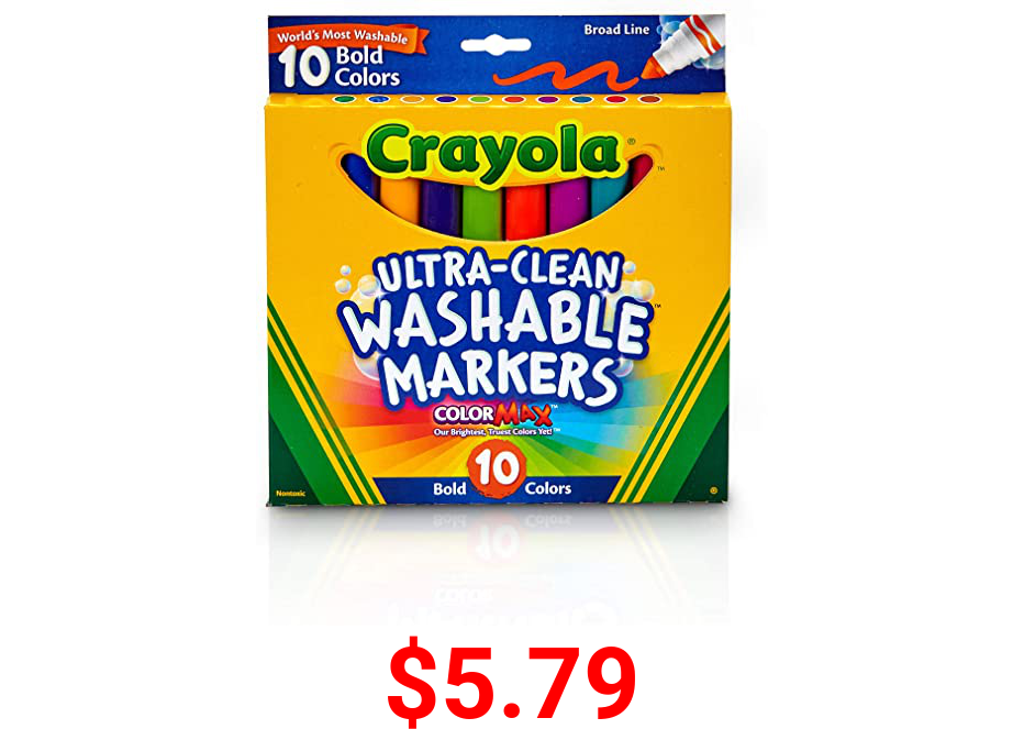 Crayola Ultraclean Broadline Bold Markers (10 Count)