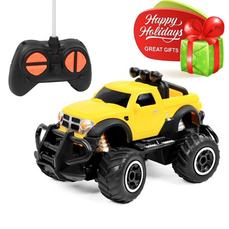 Click N' Play RC Remote Control Car, Mini Pickup Truck, Rock Crawler Radio Control Vehicle.