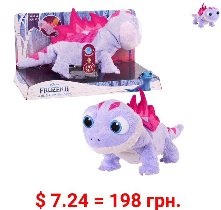 Disney Frozen 2 Walk & Glow Bruni The Salamander, Lights and Sounds Stuffed Animal