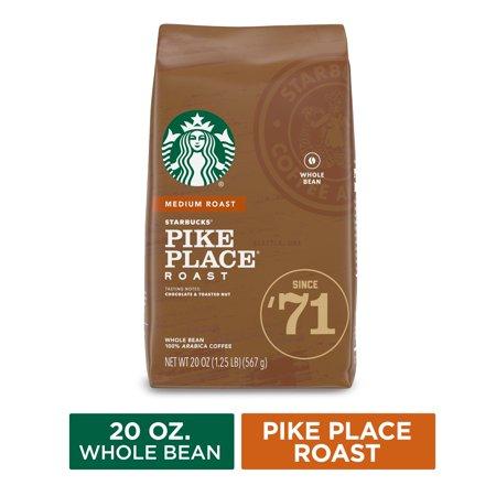 Starbucks Medium Roast Whole Bean Coffee — Pike Place Roast — 100% Arabica — 1 bag (20 oz.)