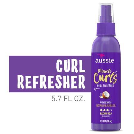 Aussie Miracle Curls Curl Refresher Spray Gel, Max Hold, 5.7 fl oz