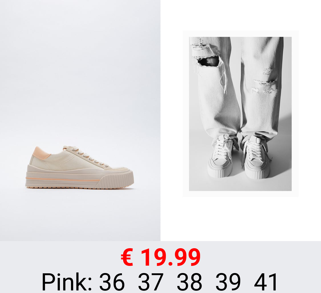 COLOURED SOLE SNEAKERS