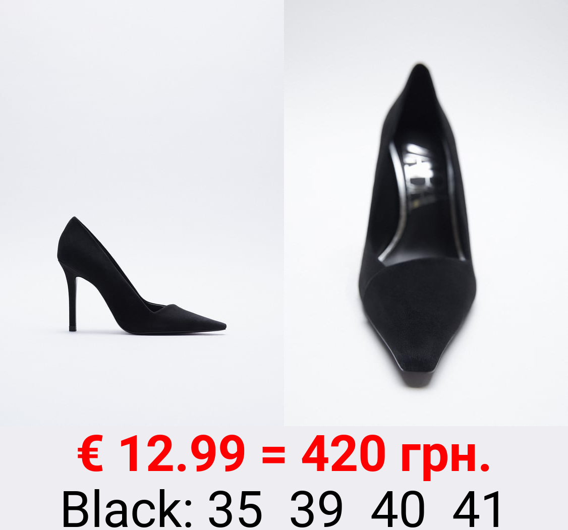 SUEDE LEATHER HIGH-HEEL SHOES