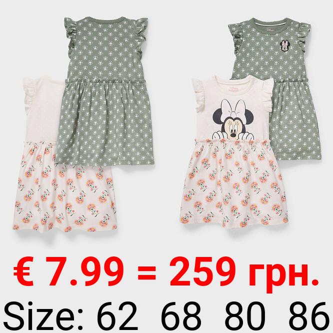 Multipack 2er - Minnie Maus - Baby-Kleid - Bio-Baumwolle