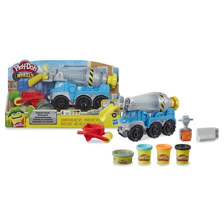 Play-Doh Wheels Cement Truck Toy with 4 Play-Doh Colors (8oz)