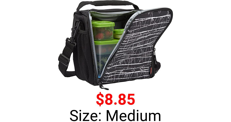 Rubbermaid LunchBlox Lunch Bag, Medium, Black Etch