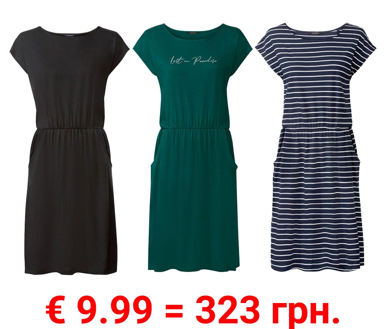 ESMARA® Kleid Damen, mit seitlichen Eingrifftaschen