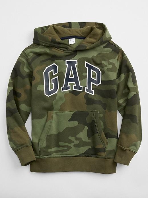 Kids Camo Gap Logo Pullover Hoodie
