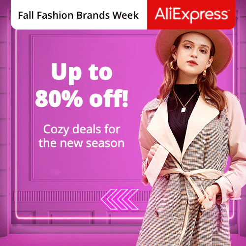 Fall Fashion Brands Week Up to 80% off! Promotion Period: 01-09-2020 - 07-09-2020