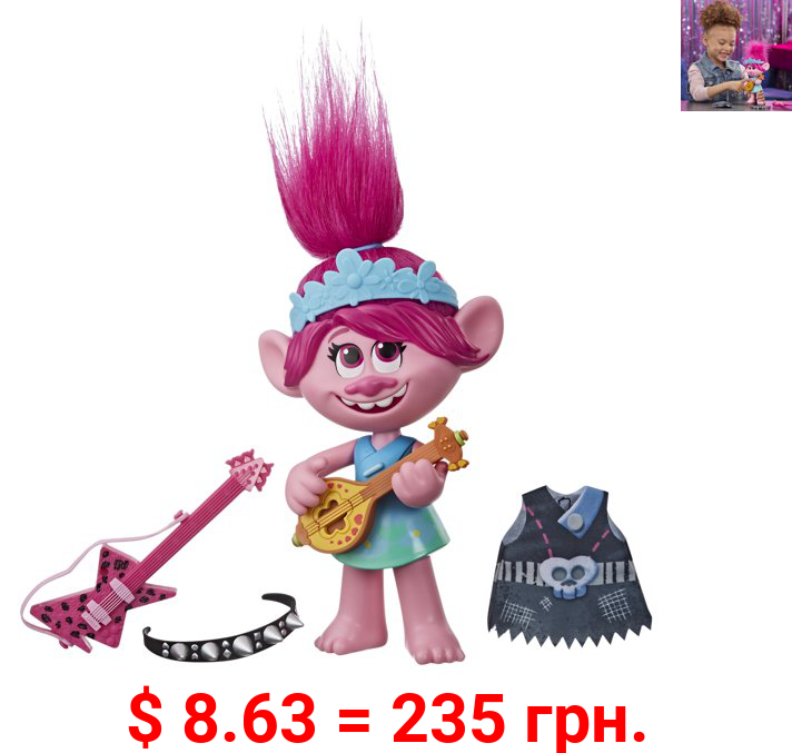 DreamWorks Trolls World Tour Pop-to-Rock Poppy, for Kids Ages 4 and Up