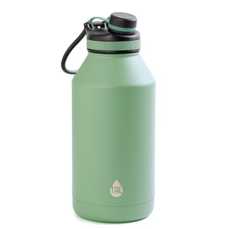 TAL Water Bottle Double Wall Insulated Stainless Steel Ranger Pro Tumbler 64oz, Sage