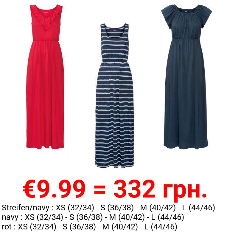 ESMARA® Kleid Damen, mit langen Seitenschlitzen