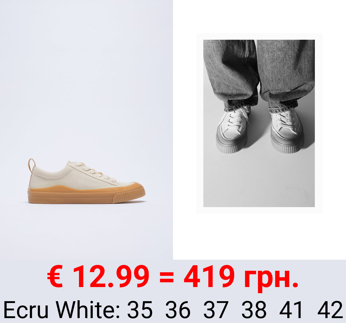 TRAINERS WITH RUBBER TOECAP