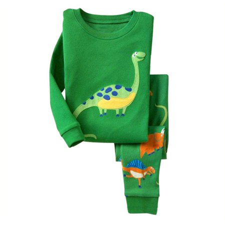 New Kids Boy Baby Girls Dinosaur Pajamas Set Outfit Nightwear Sleepwear Homewear
